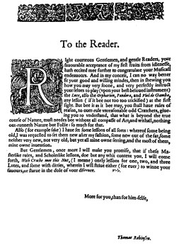 Introduction - To the reader
